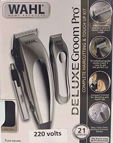 Wahl 79305-3658 Deluxe Groom Pro 21 Piece Complete Hair Clipper Cutting Kit