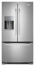 Whirlpool 5GI6FARAF 29 cu.ft. French Door Refrigerator - 220-240 Volt 50 Hz Stainless Steel - Large Size - The Best Seller