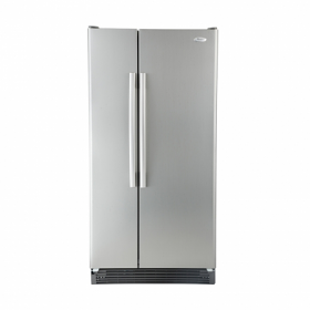 Whirlpool ED2FHKXVA 23 cu.ft. Side by Side Refrigerator - Stainless Steel Satina Finish - 220 Volt 50 Hertz - To Use Outside North America.