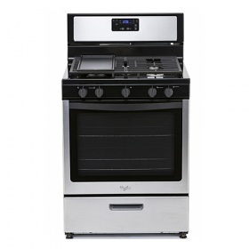 Whirlpool 3LWF7550S 220-240 Volt 50 Hz 5 Burner Gas Range with Griddle