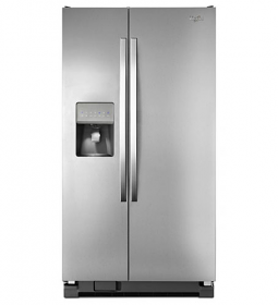 Whirlpool 5WRS25FDBF 220 Volt 50 Hz  27 cu.ft. Side by Side Stainless Steel Refrigerator with Dispenser