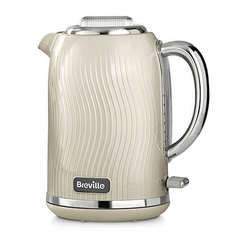 Breville VKT091 Flow Electric Kettle - 3000 Watt Fast Boil - Mushroom Cream - 1.7 Liter - 220 Volt 50 Hz