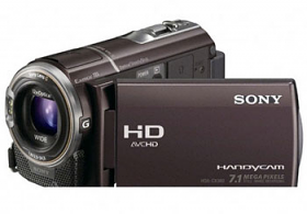 SONY HDR-CX360E Full HD PAL Camcorder with 7MP Stills, Bordeaux Brown
