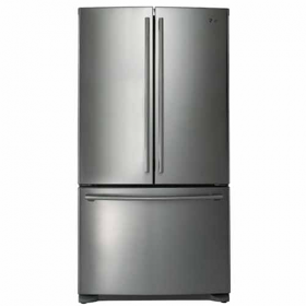 LG GRB-253AS Counter Depth 3 Door French Door Refrigerator - 25 Cu Ft