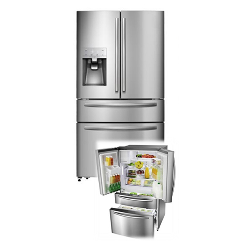 Whirlpool WFRM68DSS Four Door French Door Refrigerator with External Ice & Water Dispenser Stainless Steel Refrigerator - 516 Liter - 18.2 Cu Ft. - 220 Volt 240 Volt 50 Hz