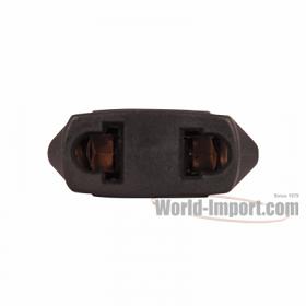2 Flat Pin USA/Mexico/Canada Plug Adapter - WMF7