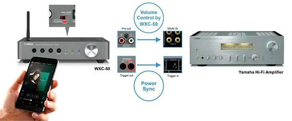 Yamaha WXC-50 Music Cast Wireless Streaming Preamplifier - World Import
